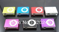 Free shipping DHL 300PCS/LOT TF Micro SD Slot Clip MP3 Player with Earphone and USB Cable 8 Colors