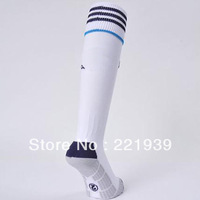 Football sport Socks 12-13 Real Madrid Club Home Soccer Socks,Football Long Thicken trainning cotton Socks
