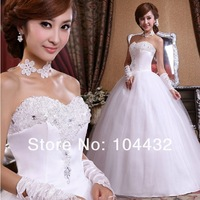 2013 new DesignModern women sweet princess Puff  Wedding dress size: S M L XL  free shipping