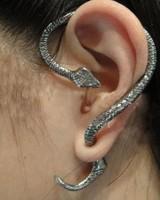 Fashion Vintage Earcuff Snake Personality Punk Stud Earring Spirally-wound e011 Free Shipping 7.7g