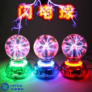 USB-powered mini 3.25-inch with voice magic ball electrostatic ion ball lightning ball magic sensor night light