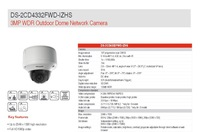 DS-2CD7254FWD-EIZH=DS-2CD4332FWD-IZH, IPC Hikvision Camera 3MP Dome Camera Christmas Decoration