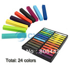 5Sets/Lot 24 Colors Fashion Hot Fast Non-toxic Temporary Pastel Hair Dye Color Chalk  Free Shipping 11677(China (Mainland))