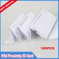 100pcs/lot 125Khz  RFID EM  Proximity Slim ID Cards  for Access Control