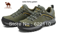 freeshipping CAMEL men's outdoor slip-resistant and shock-absorbing hiking shoes;climbing camping low cut shoes82026605