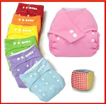 New 2014 Reusable and Leak-Proof Baby Cloth Diaper, Adjustable Nappy with Snap-Button All-In-One One-Size Snap Closure Diaper