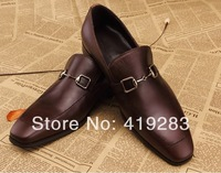 Size 13 Famous Brand Slip-on Flats Leather Shoes Business Men's Oxfords Formal Latest Italian Style