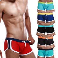 Sexy men's bikini swimsuit fashion male swim trunks men swimming boxers solid bathing suit for man S/M/L/XL size board shorts