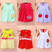 3pcs/lot Summer 2014 Baby girl princess Candy color dress hot-selling Send style randomly