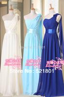 new 2014 long evening dress design the evening dresses one shoulder  Pregnant formal dresses big size plus size party dresses