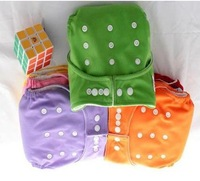 2 Pcs New 1 Size adjustable Cloth Baby Diaper+ 2 insert 6 colors Baby check urine pants Discount