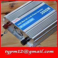 Modified Sine Wave USB Mobile Car Inverter DC12V to AC220V auto inverter 3000W+free shipping
