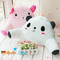 Free Shipping New Cute Stuffed Panda Bear Lumbar Pillow Animal Plush Cushion Soft Toy Birthday Christmas Valentine's Day Gift