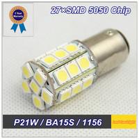 2 PCS S25 P21W BA15S 1156 1141 27 SMD 5050 Reverse Lights Turn Signal For fiat palio corolla focus peugeot hyundai solaris