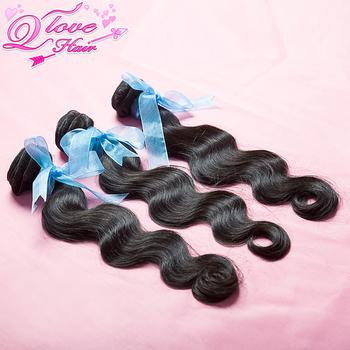 "3pcs Peruvian virgin hair body wave human hair extension,unprocessed hair natural color,10""-28"" Mixed length,Free shipping"