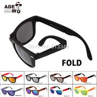 Popular Brand FOLD oculos Wayfarer Sunglasses Women All Black Fashion Glasses Men lentes de sol de marca with 48mm Lens