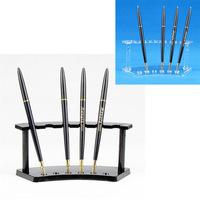 Wholesale 5 Plastic Cosmetics Organizer Makeup Eyebrow Pencil Pen Display Stand Holder For 6 Pcs