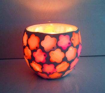 Seashell Mosaic Candle Holders For Home & Wedding & Party Decoration/ Wholesale Handmade Floral Candle Holder/ Bougeoir