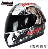 Exempt postage/authentic tanked senior car racing helmets motorcycle helmet