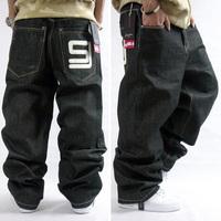 Puff Diddy SJ Men Denim Jean Fashion Classic Black Hip Hop Designer Brand Plus Size 30-44 Skateboard Pants True HipHop Rap Man