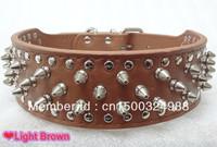 2inch Wide Studded Leather Dog Collars Large Dog PitBull Boxer Mastiff Terrier Bulldog