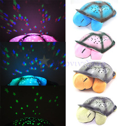 Tortoise Shadow Lamp With Music Sleep Starry Sky Lamp Creative Baby Valentines Gift Dolls Stuffed Plush Toys(China (Mainland))