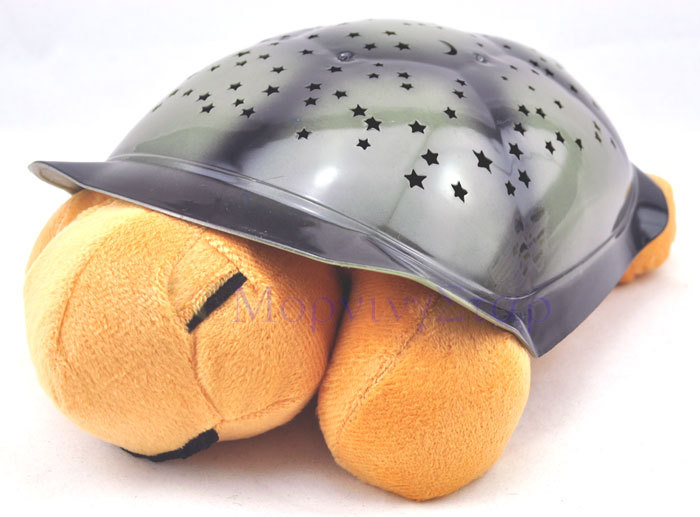 Tortoise Shadow Lamp With Music Sleep Starry Sky Lamp Creative Baby Valentines Gift Dolls Stuffed  Plush Toys
