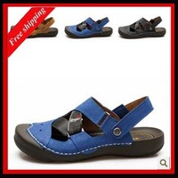 Summer fashion  high quality handmade genuine leather beach men's leather sandals 2013 new arrival Hot-selling