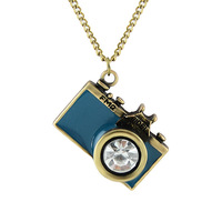 Fashion  hot sale lovely vintage style camera pendant necklace for women