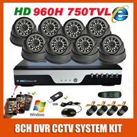 Best HD Sony 960H Effio 750TVL Indoor Night Vision Video Surveillance Camera 8CH CCTV System Kit  Security Camera System