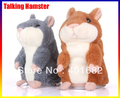 5pcs/lot Tomy Hamster Talking Plush Toy Talking Hamster Mice Pet Voice Recorder & retail box Free Shipping