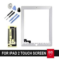 Touch Screen Replacement For iPad 2 Glass Touch Screen + TOOL+3M Adhesive Assembly Free shipping