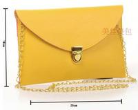 LZ bags free shipping Women's handbag vintage envelope day clutch messenger bag PU leather chain shoulder bag