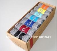 7 pairs/lot Cowhide box weekly sox creative weekly socks great gift Black/Gray/White Freeshipping