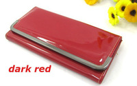 2013 New  Fashion Hot Sale PU shiny leather Women Wallet, clutch wallet and Purses