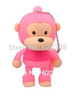 Free shipping genuine capacity  monkeyCartoon USB flash Drive,USB Stick,usb flash1GB,2GB,4GB,8GB,16GB,32GB 64GB