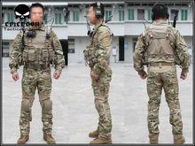 EMERSON Gen2 combate BDU camisa y pantalones y almohadillas uniforme de combate Multicam camuflaje militar EM2725 uniforme(China (Mainland))