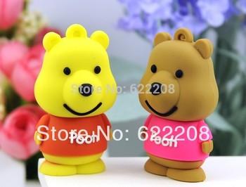 Free shipping genuine capacity Winnie Bear Cartoon USB pen drive  flash Drive,usb flash1GB,2GB,4GB,8GB,16GB,32GB 64GB