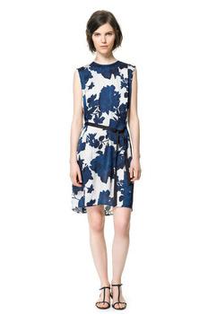 Hot Sale Promotion Fashion Women Print Flower Pattern Dress with BeltFreeShipping