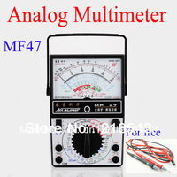 Free shipping MF47 Traditional Analogue Multimeter Analog Panel Meter Ohmmeter Voltmeter Ammeter + 1000V 20A Victor Test Lead