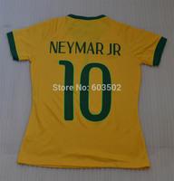 3A++++ Thailand Quality NEYMAR JR  Women Soccer Shirt , NEYMAR JR #10 Girl Female soccer jersey (only shirts) + can custom names