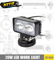 20W CREE LED Work light IP67 CE Energy Saving Lamp Auto spot 4X4 ATV UTV