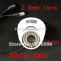 700TVL CMOS 2.8mm lens IR-CUT Color Dome Video CCTV Security Camera W95-72