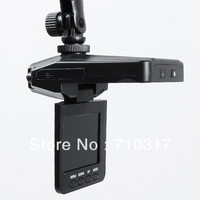 Car DVR Recorder camera 6 IR LED Night vision HD 2.5'' TFT LCD screen 90 degree wide view angle H198 Free shipping