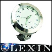"LEXINMOTO T1 White/Black Motorcycle Super Glow Handlebar Clock Fit For 7/8""(22mm)-1 1/4""(32mm) Handlebar"