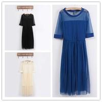 Одежда и Аксессуары 2013 ZA New Fashion Summer Lady's Lace Dress Women' Brand Hollow Out Mini Dress, Party dress lyq10