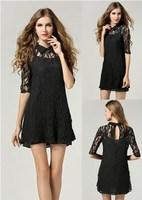 Plus size 5XL 4XL Lace Black Dress with Tank Tops Women Slim sophisticated Elegant Vintage Design Mini Summer novelty dresses