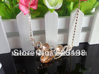Min.order is $15 (mix order) 2013 New style fashion elegant gold necklace for women