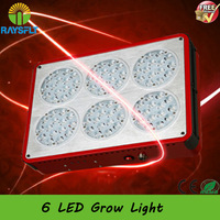 New Apollo 6 Hydroponic LED Plant Grow Light 90*3W led Lamp flower 6 led grow light