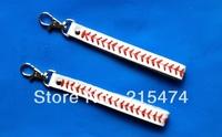 genuine leather baseball/softball keychain